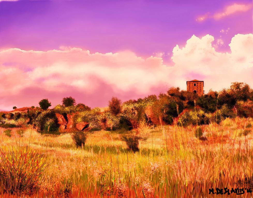 La torre sulla collina2 - Michele De Flaviis - Digital Art