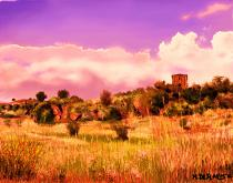 La torre sulla collina2 - Michele De Flaviis - Digital Art