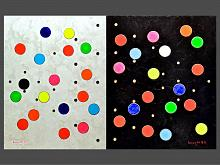 Il bianco, il nero ed ... i colori ( due tele) - GRECO Bruno - Acrilico ed elementi acciaio