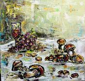 Funghi e castagne - tiziana marra - Olio