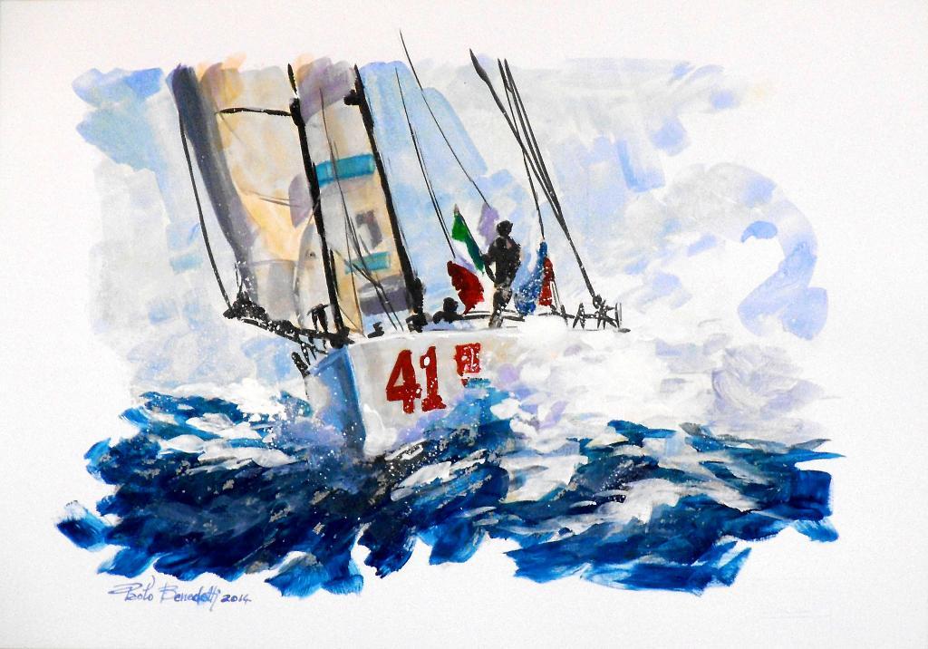 REGATA - Paolo Benedetti - Acrilico - 90 €