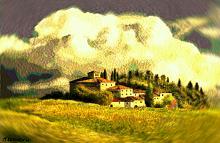 Borgo toscano3(vortice vangoghiano) - Michele De Flaviis - Digital Art