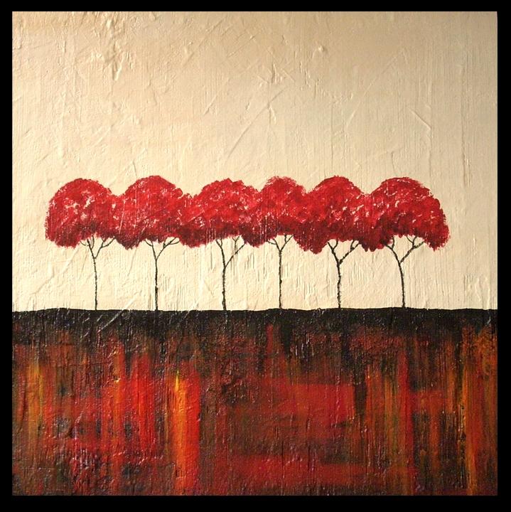 Alberi in rosso vendita quadro pittura artlynow for Alberi in vendita
