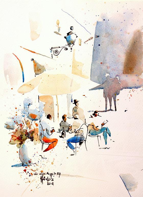 La mia Reggio34 - Guido Ferrari - acquerello e inchiostro - 350 €