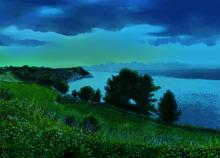 Baia Portonuovo -sera(Conero)  - Michele De Flaviis - Digital Art