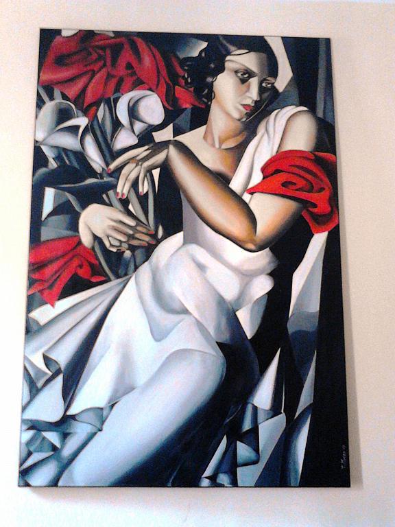 Tamara De Lempicka - tiziana marra - tecnica mista - 1300 €