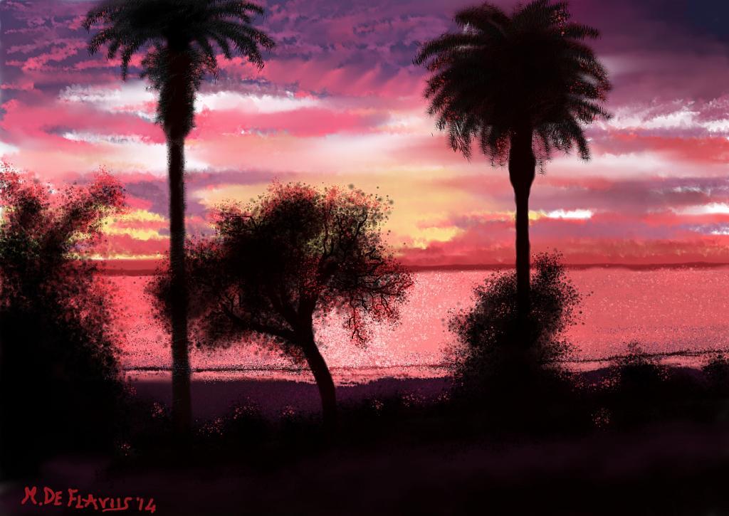 Tramonto a Santa Monica - Michele De Flaviis - Digital Art