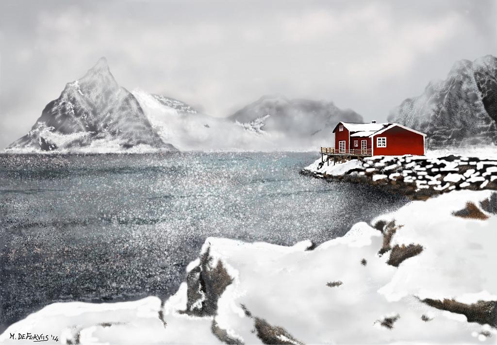 Paesaggio norvegese  - Michele De Flaviis - Digital Art