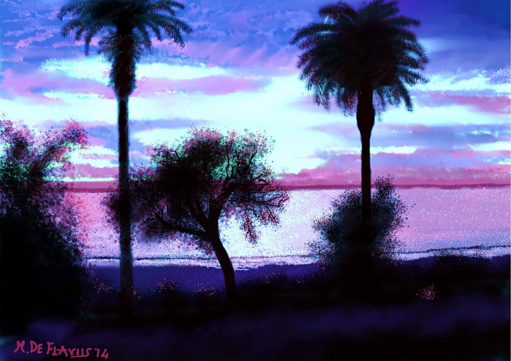 Aurora a Santa Monica2 - Michele De Flaviis - Digital Art