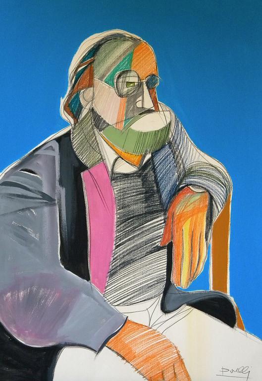 Autoritratto - Gabriele Donelli - Pastello e acrilico - 900 €