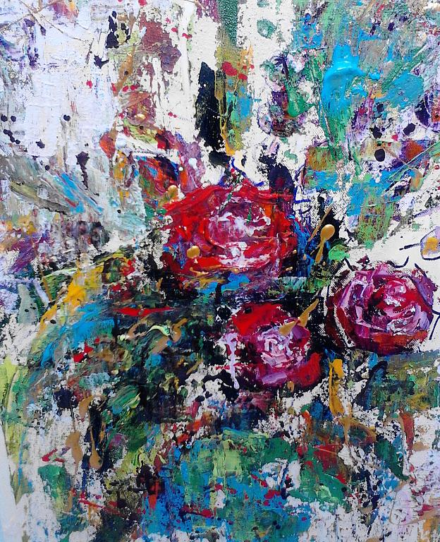 Tre rose - tiziana marra - tecnica mista - 220,00 €