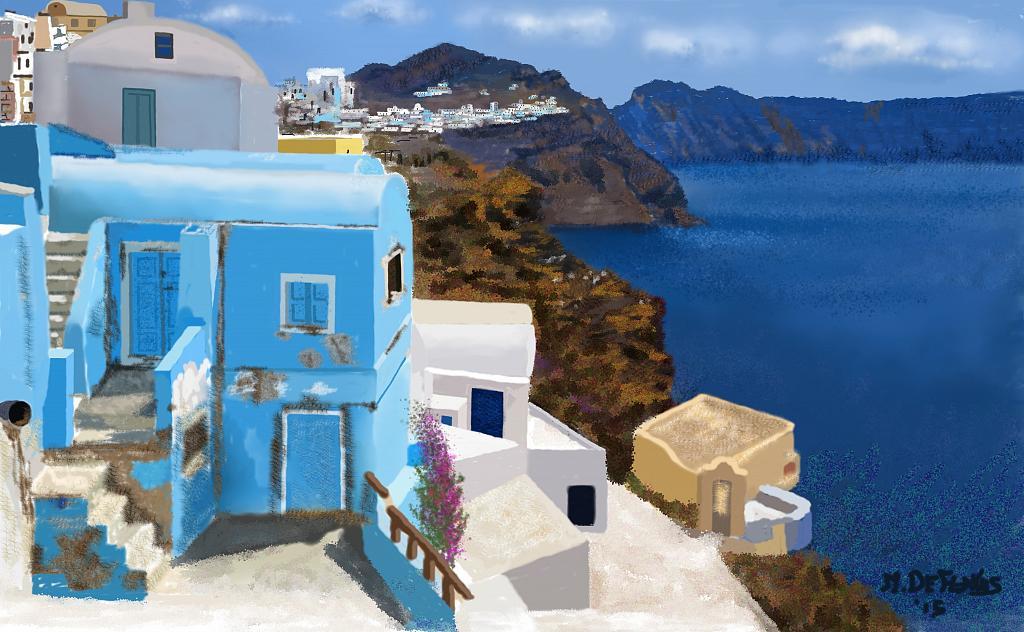 Isola greca - Michele De Flaviis - Digital Art