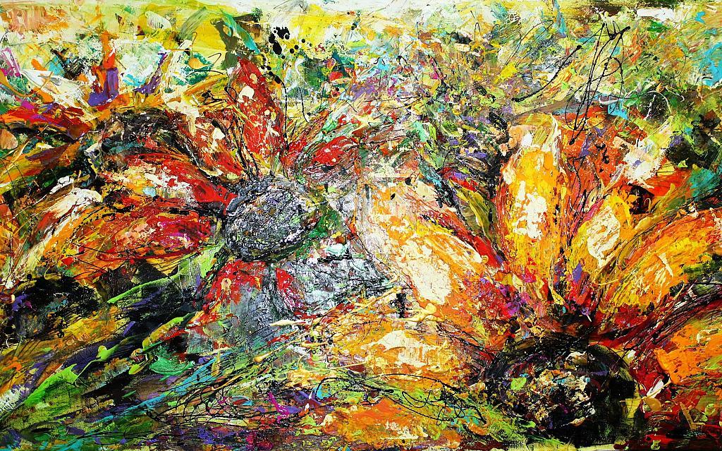 giardino fiorito - tiziana marra - tecnica mista - 320,00 €
