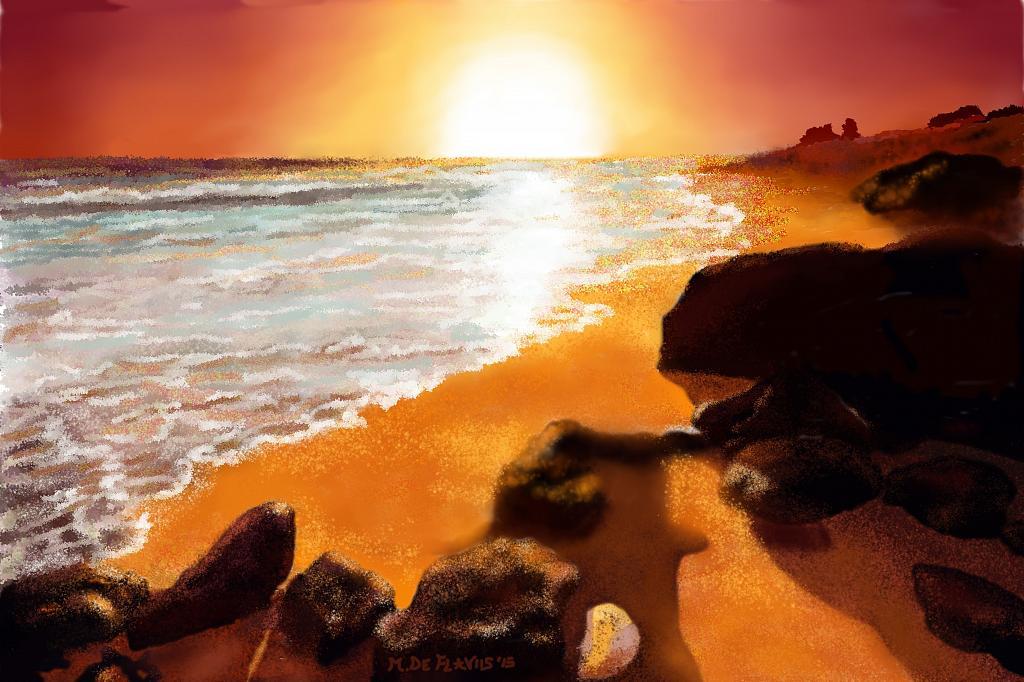 Sabbia dorata - Michele De Flaviis - Digital Art