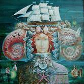 """""""Melodia Mar Mediterraneo"""" - Viktoriya Bubnova - Olio"""