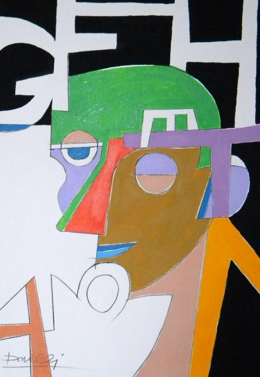 Il poeta - Gabriele Donelli - Acrilico - 300 €