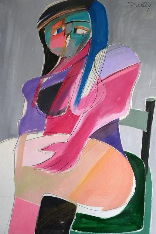 Donna seduta - Gabriele Donelli - Acrilico - 300 €