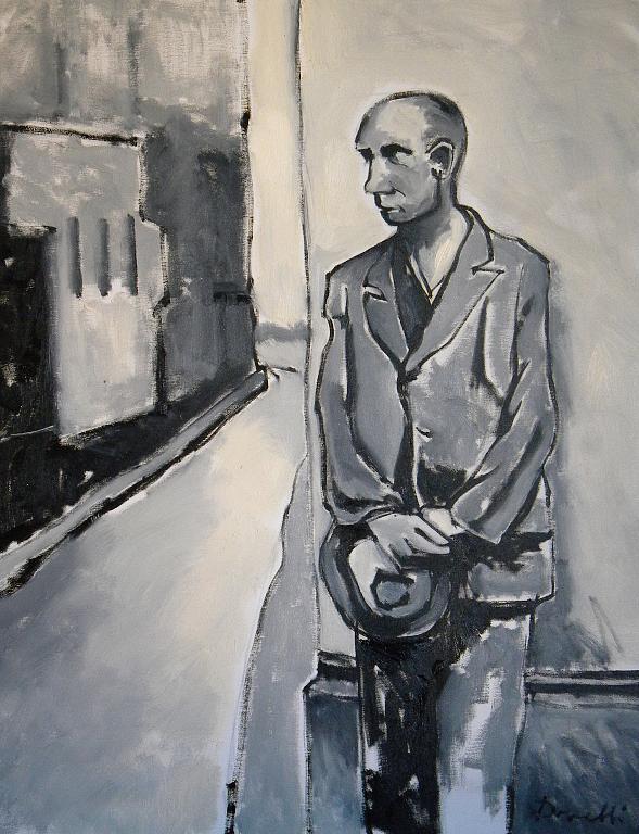 Il disoccupato - Gabriele Donelli - Olio - 900 €