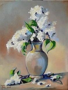 Vaso con fiori - Silvia Tschauschev - Acrilico -  €