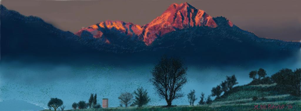 Gran Sasso teramano - Michele De Flaviis - Digital Art