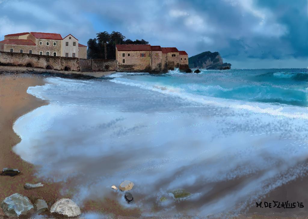 Il mare d'inverno - Michele De Flaviis - Digital Art