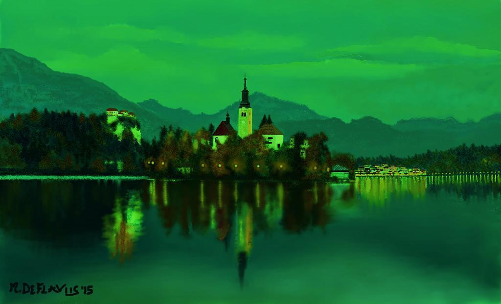 Riflessi sul lago2 - Michele De Flaviis - Digital Art