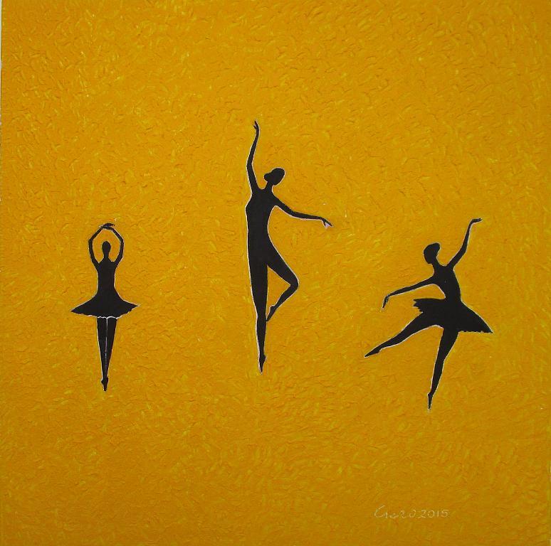 A passo di danza - Girolamo Peralta - Acrilico - 230 €