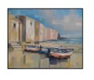 Sulla spiaggia - Silvia Tschauschev - Olio - 190 €