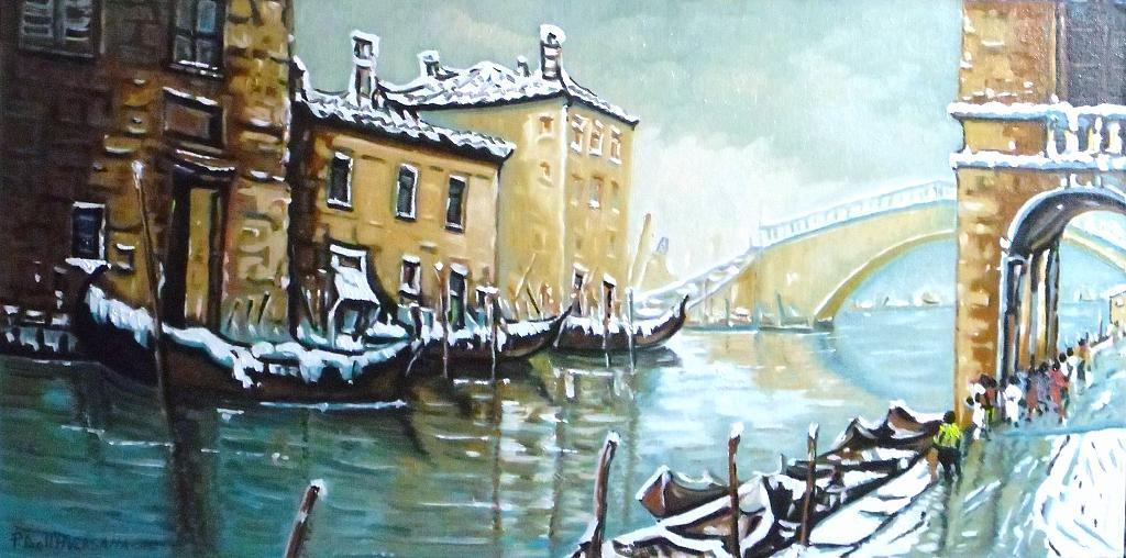 Venezia - Pietro Dell Aversana - Olio - 120 €