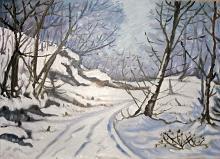 Paesaggio invernale - Pietro Dell Aversana - Olio - 185€