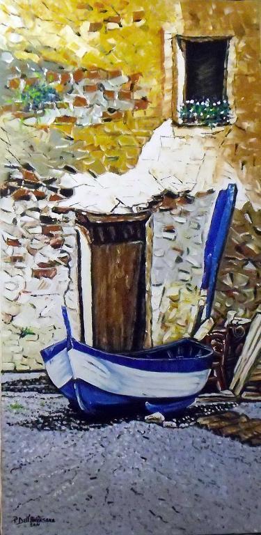 La barca - Pietro Dell Aversana - Olio