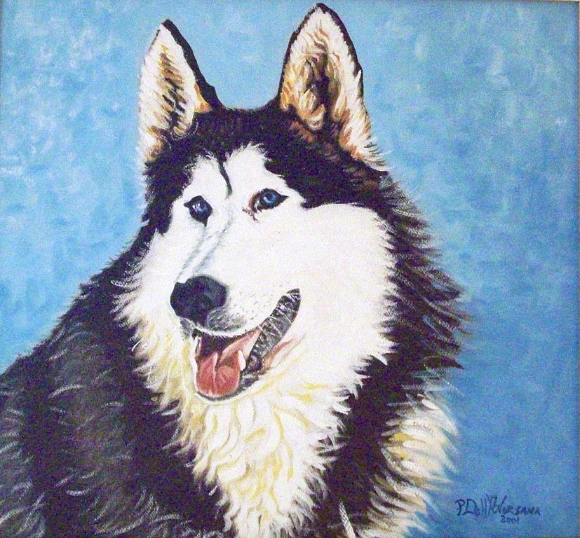 Ritratto di cane - Pietro Dell Aversana - Olio - 155 €