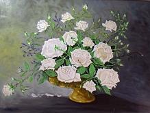Rose bianche - Pietro Dell Aversana - Olio - 350€