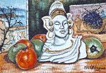 Natura morta omaggio a Egitto - Pietro Dell Aversana - Olio - 135€
