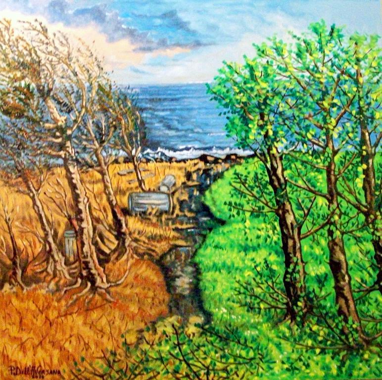 C'era una volta il tempo degli alberi - Pietro Dell Aversana - Olio - 185 €