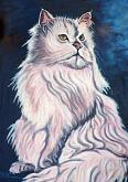 Gatto bianco - Pietro Dell Aversana - Olio - 230€