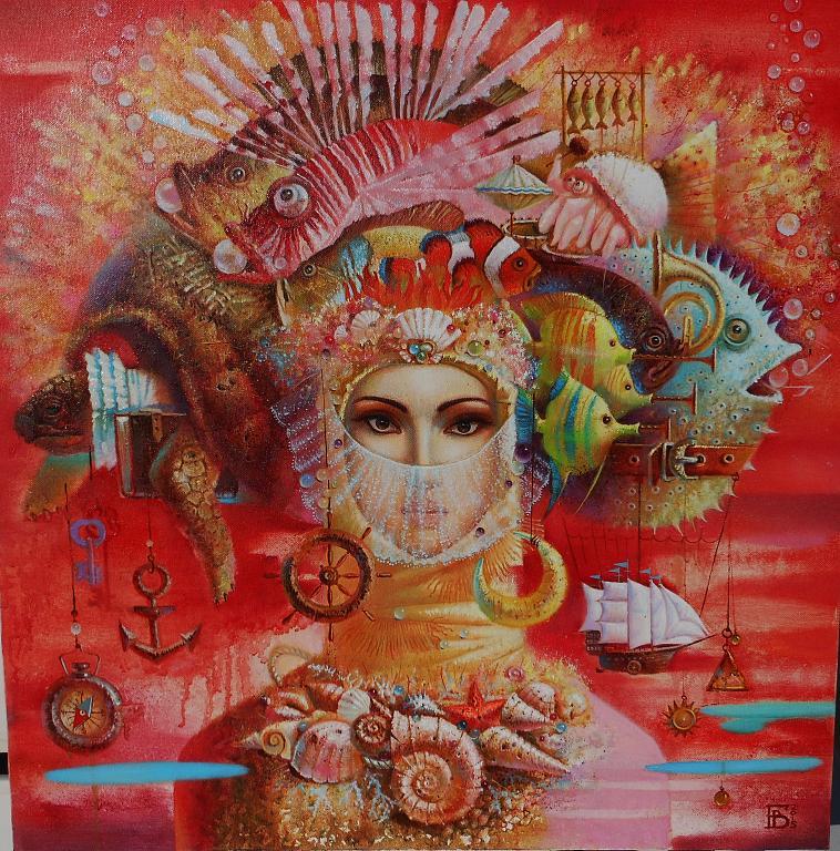 """""""Melodia Mar Rosso"""" - Viktoriya Bubnova - Olio"""