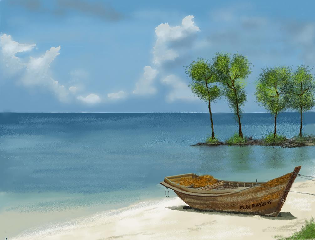 Vecchia barca - Michele De Flaviis - Digital Art