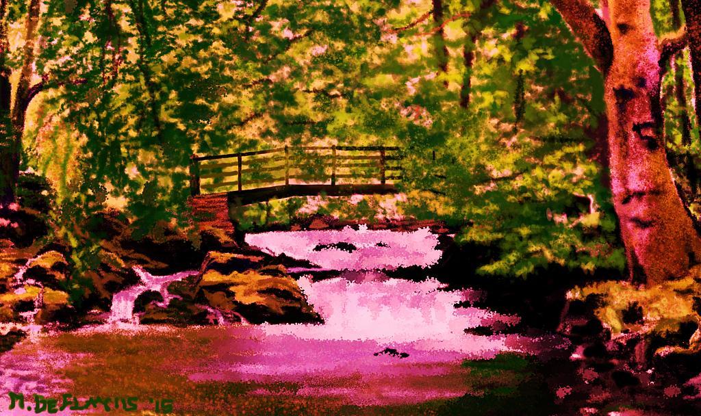 Ponte sul torrente in piena2 - Michele De Flaviis - Digital Art
