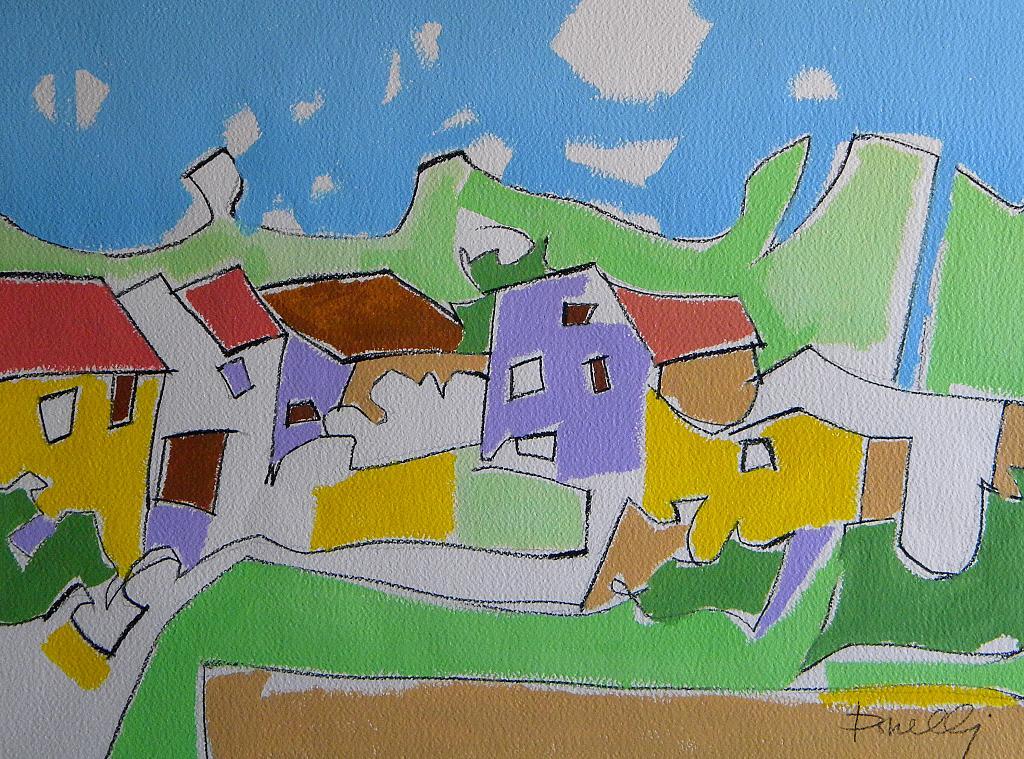 Paesaggio primaverile - Gabriele Donelli - Acrilico - 700 €