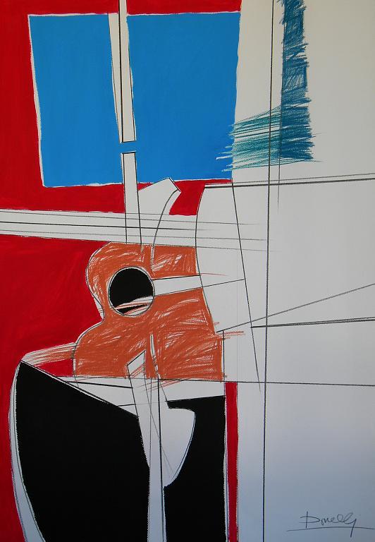 Composizione 347 - Gabriele Donelli - Pastello e acrilico - 700 €