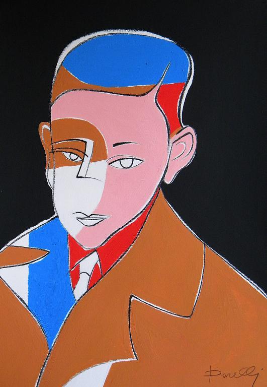 Autoritratto da bambino - Gabriele Donelli - Acrilico - 700 €