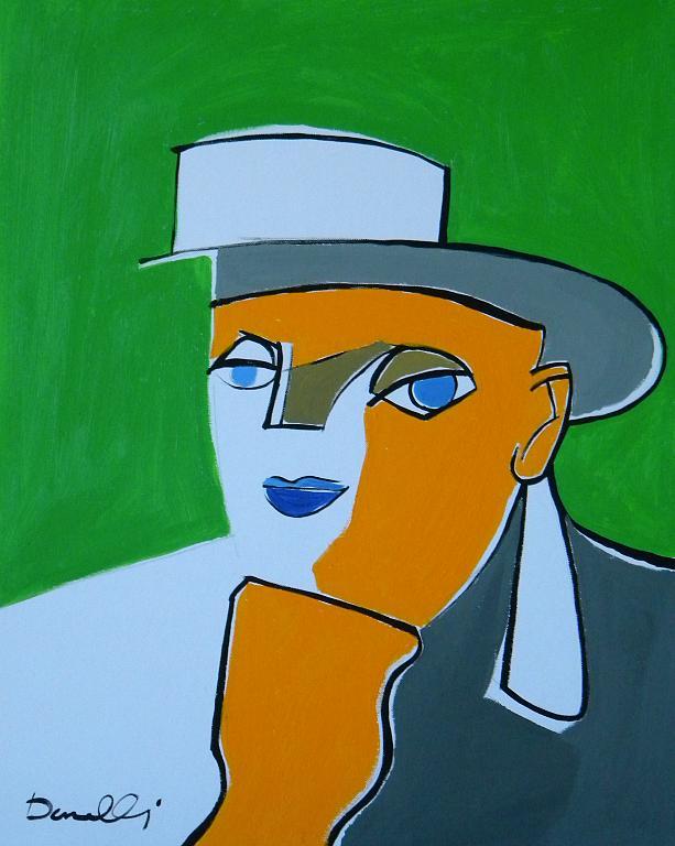 Ritratto di Lalla Romano - Gabriele Donelli - Acrilico - 300 €
