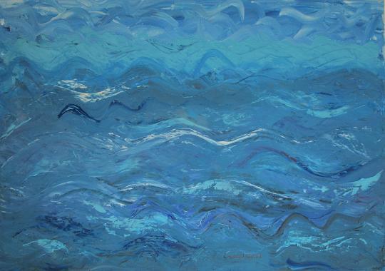 e il naufragar m'è dolce in questo mare - Girolamo Peralta - Olio e Acrilico