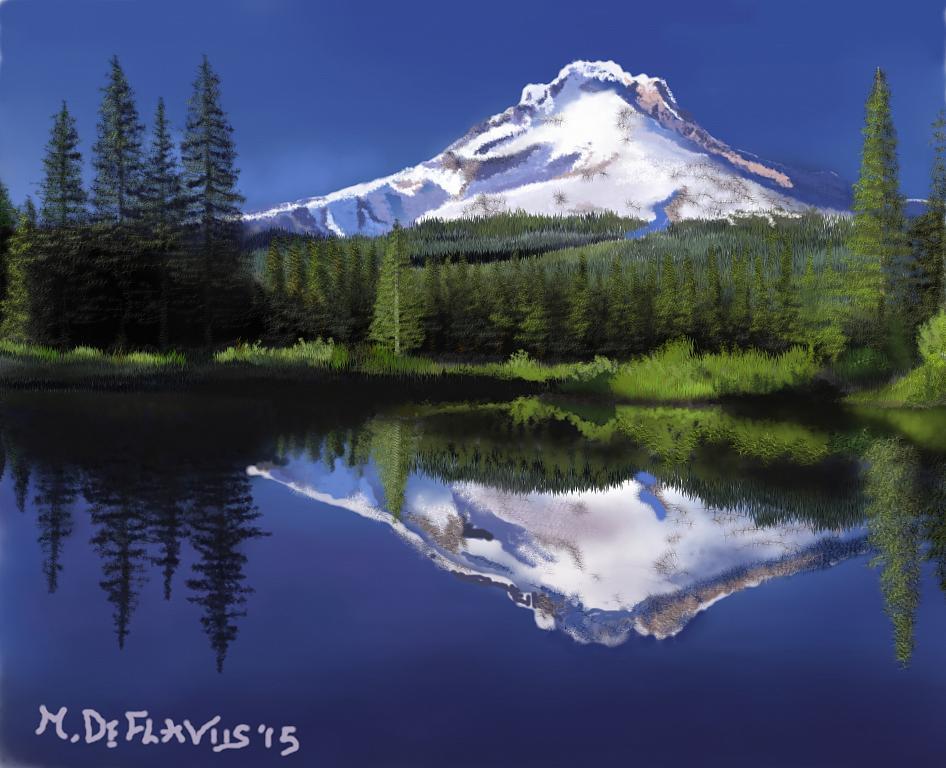 Specchio di montagna - Michele De Flaviis - Digital Art