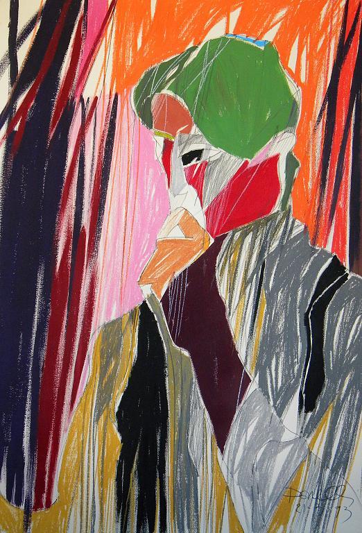 Riflessione - Gabriele Donelli - Pastello e acrilico - 900 €