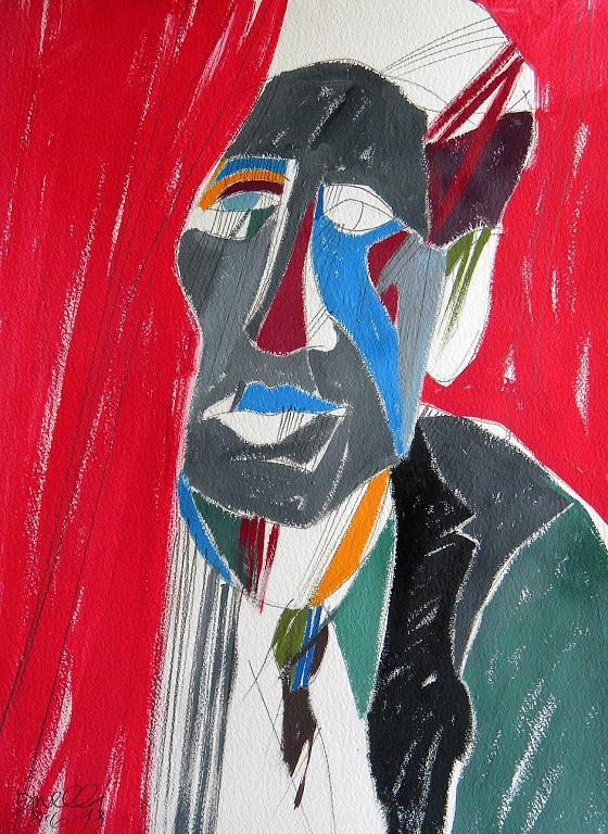 Ritratto di Alberto Giacometti - Gabriele Donelli - Acrilico - 1300 €