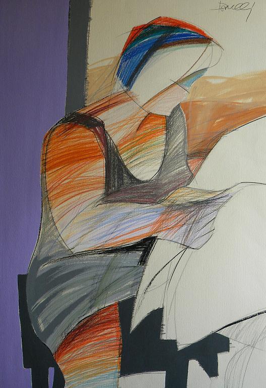 La lettura - Gabriele Donelli - Pastello e acrilico - 1700 €