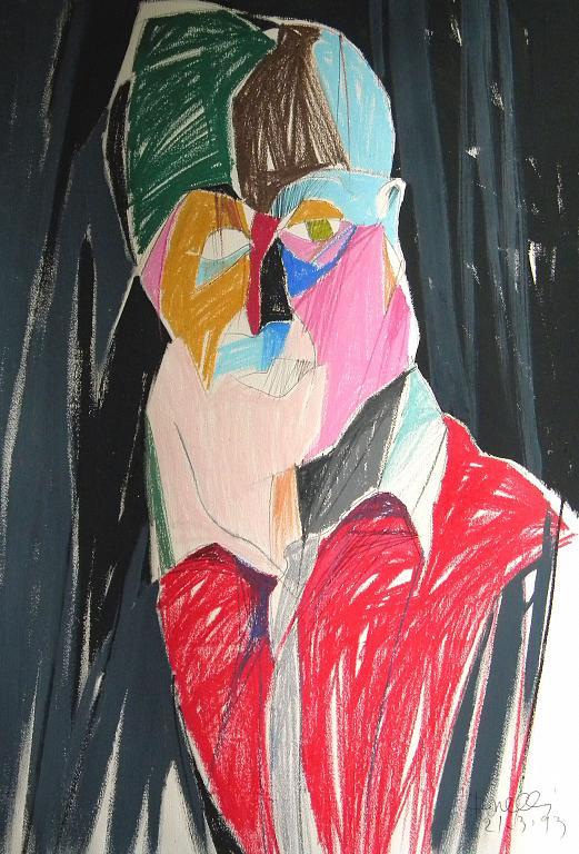 Ritratto di Francis Bacon - Gabriele Donelli - Pastelli e acrilici - 300 €