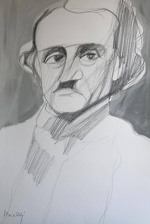 Ritratto di Edgar Allan Poe - Gabriele Donelli - Matita e acrilico - 300 €